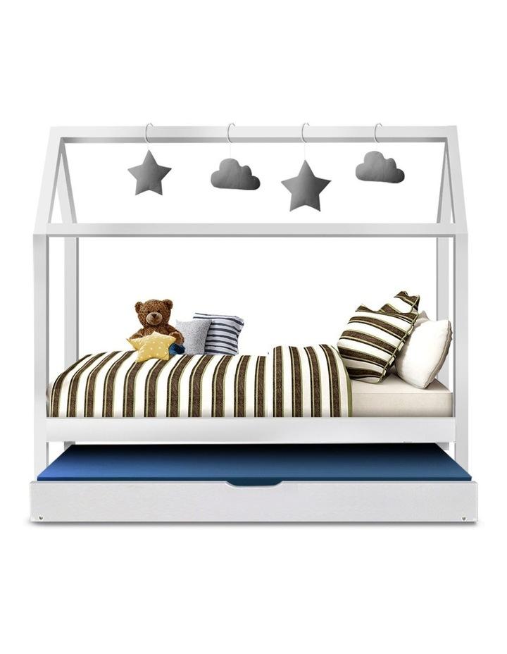 Wooden Bed Frame Single Size Mattress Base Pine Timber Platform White HOLY image 3
