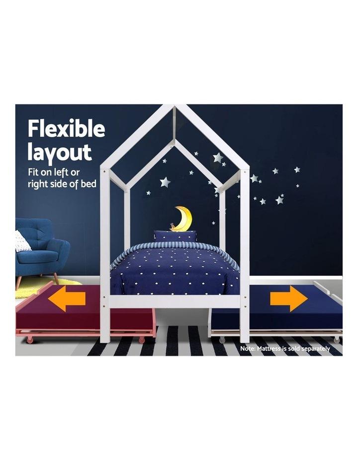 Wooden Bed Frame Single Size Mattress Base Pine Timber Platform White HOLY image 5