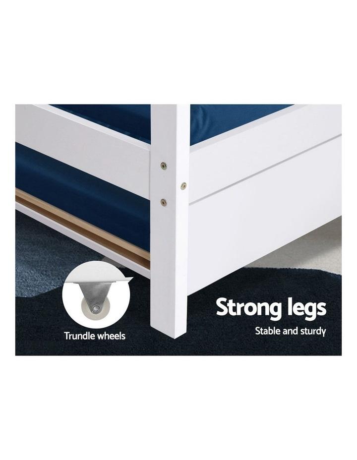 Wooden Bed Frame Single Size Mattress Base Pine Timber Platform White HOLY image 6