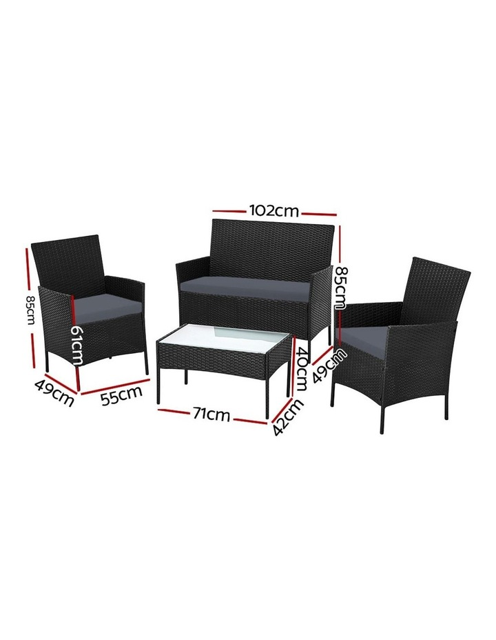 Garden Furniture Outdoor Lounge Setting Wicker Sofa Patio Storage Cover image 2