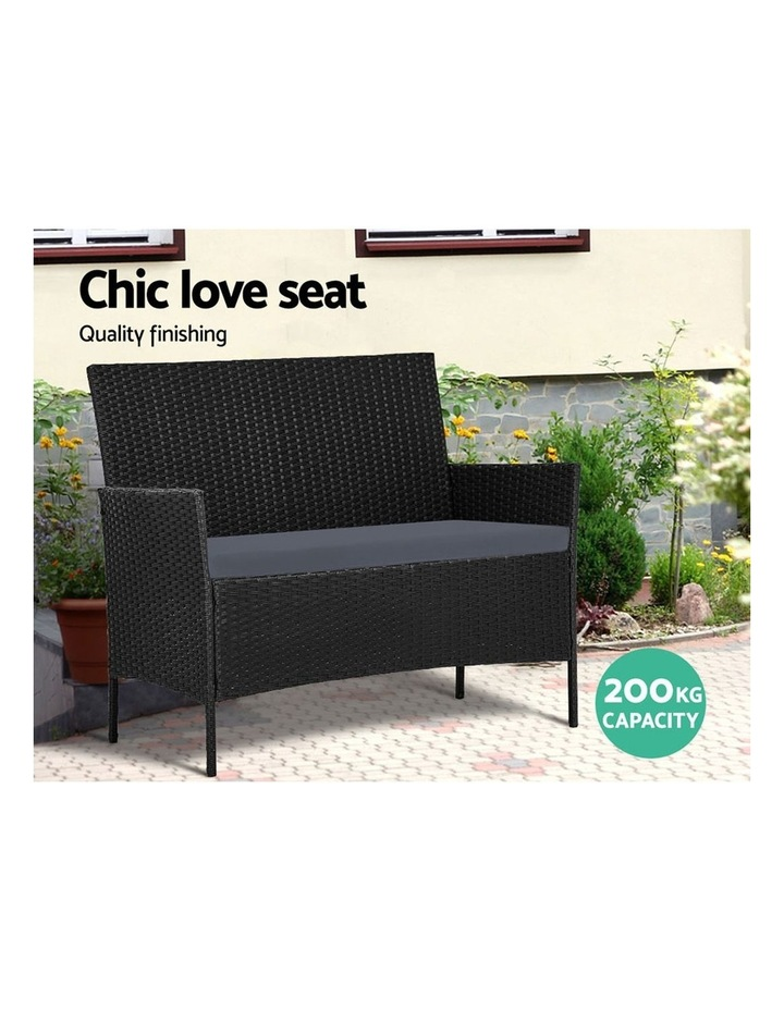 Garden Furniture Outdoor Lounge Setting Wicker Sofa Patio Storage Cover image 4