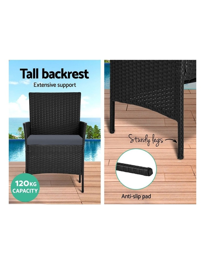 Garden Furniture Outdoor Lounge Setting Wicker Sofa Patio Storage Cover image 5