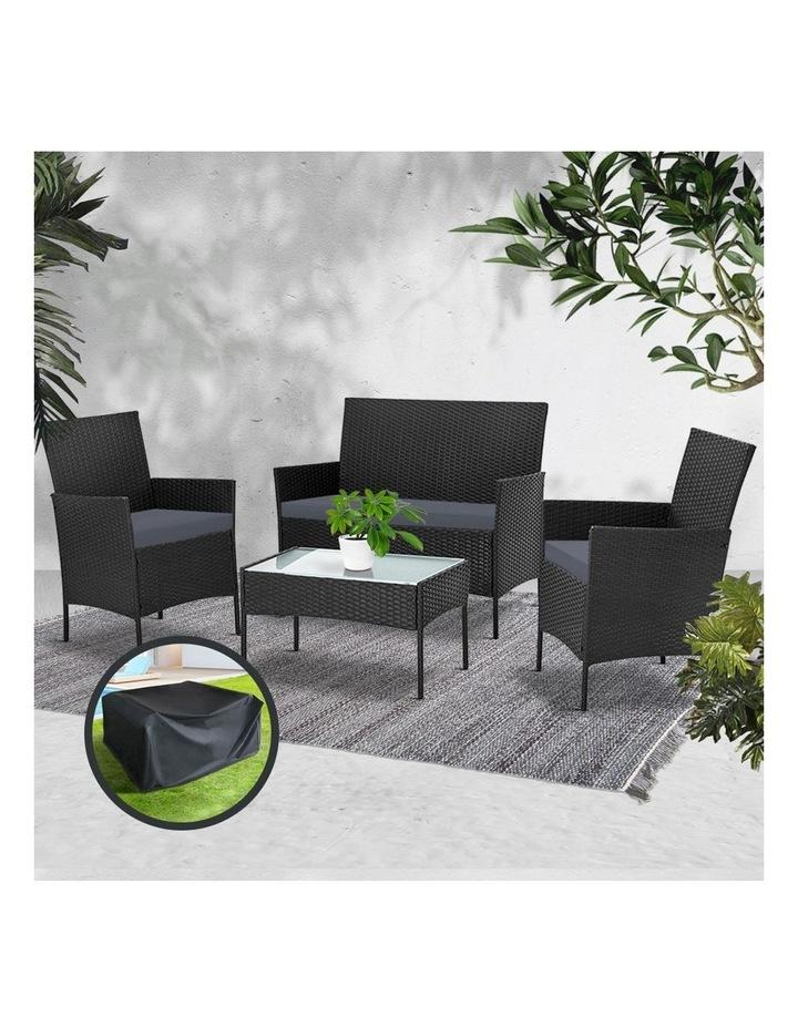 Garden Furniture Outdoor Lounge Setting Wicker Sofa Patio Storage Cover image 6