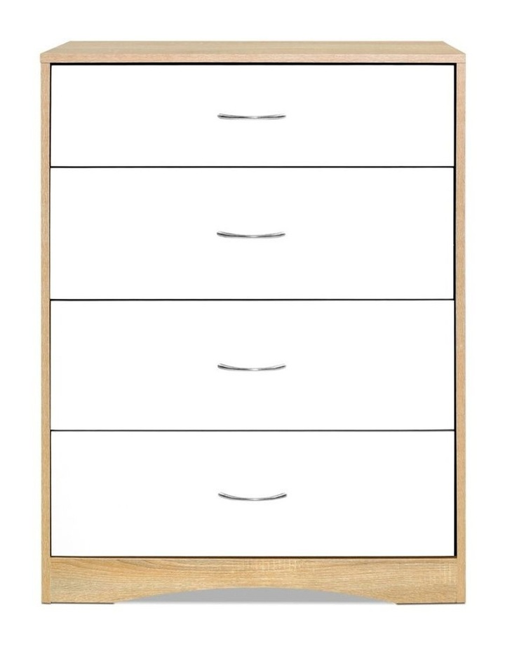 Chest of Drawers Tallboy Dresser Table Bedroom Storage White Wood Cabinet image 3