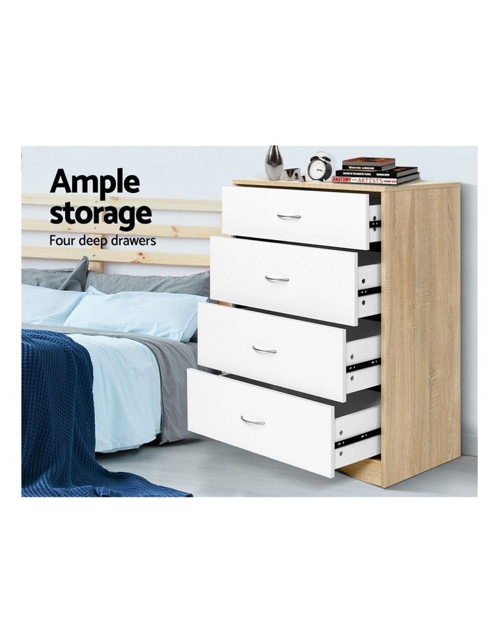 Chest of Drawers Tallboy Dresser Table Bedroom Storage White Wood Cabinet image 4