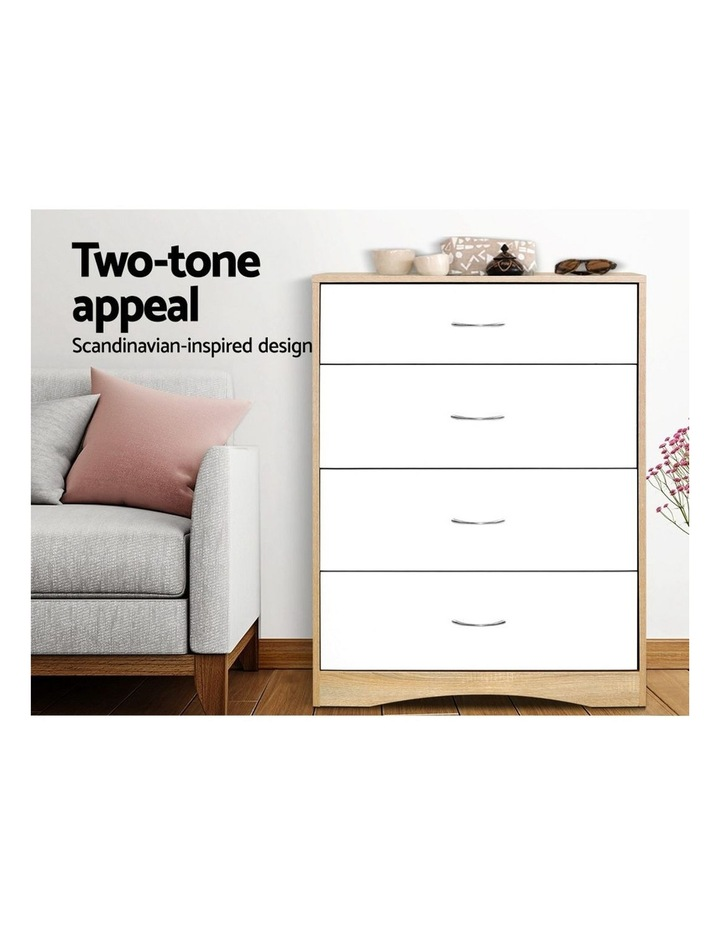 Chest of Drawers Tallboy Dresser Table Bedroom Storage White Wood Cabinet image 5