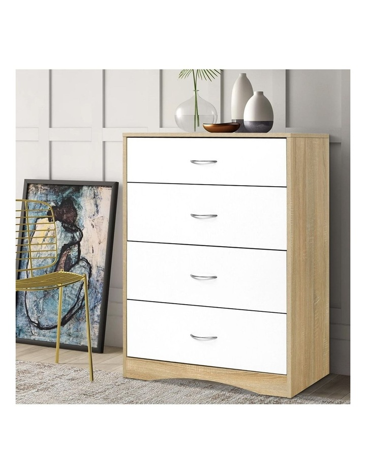 Chest of Drawers Tallboy Dresser Table Bedroom Storage White Wood Cabinet image 6