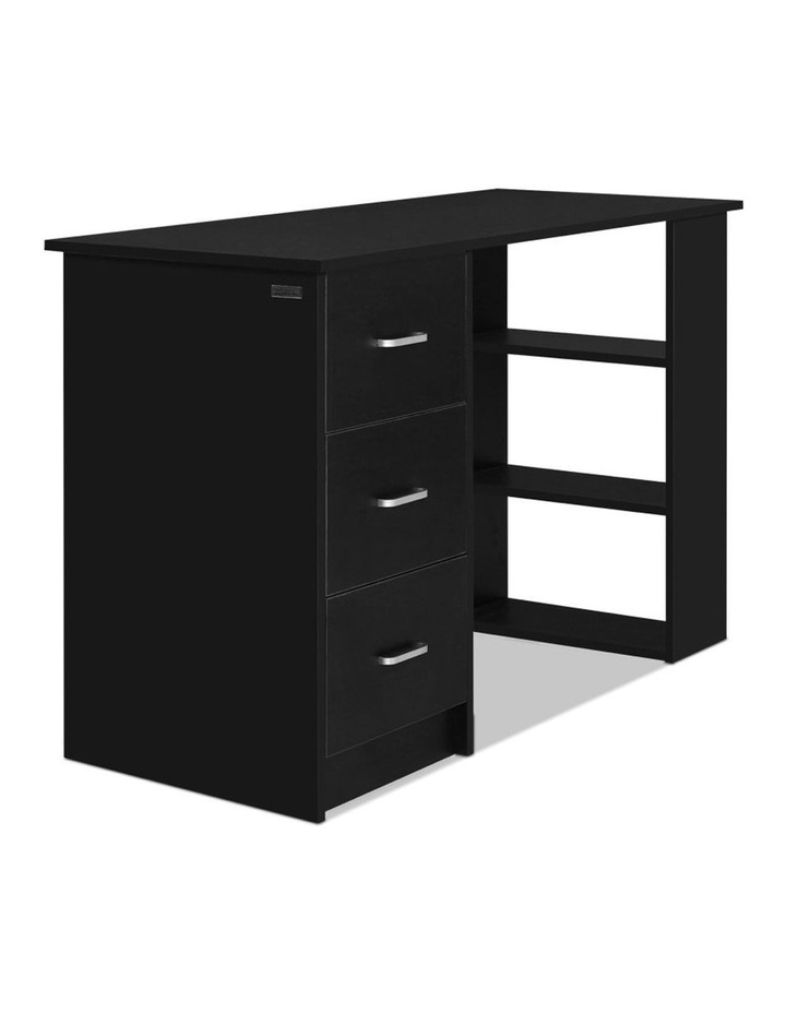 Office Computer Desk Student Study Table Workstation 3 Drawers 120cm Black image 3