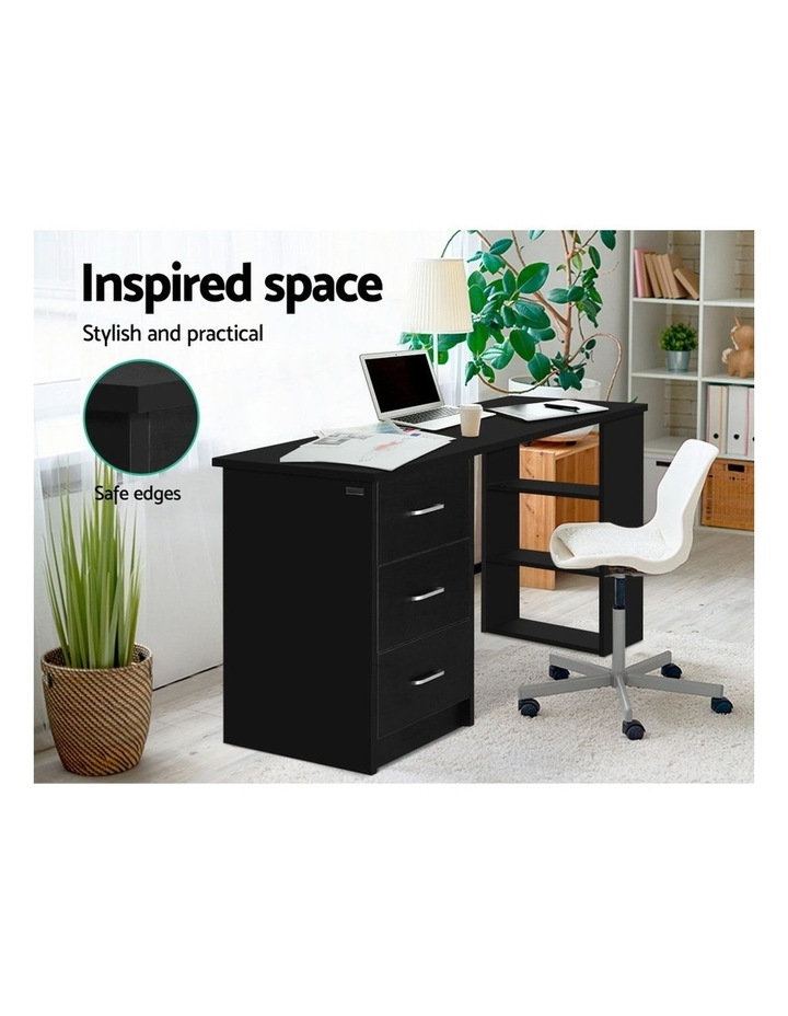 Office Computer Desk Student Study Table Workstation 3 Drawers 120cm Black image 5