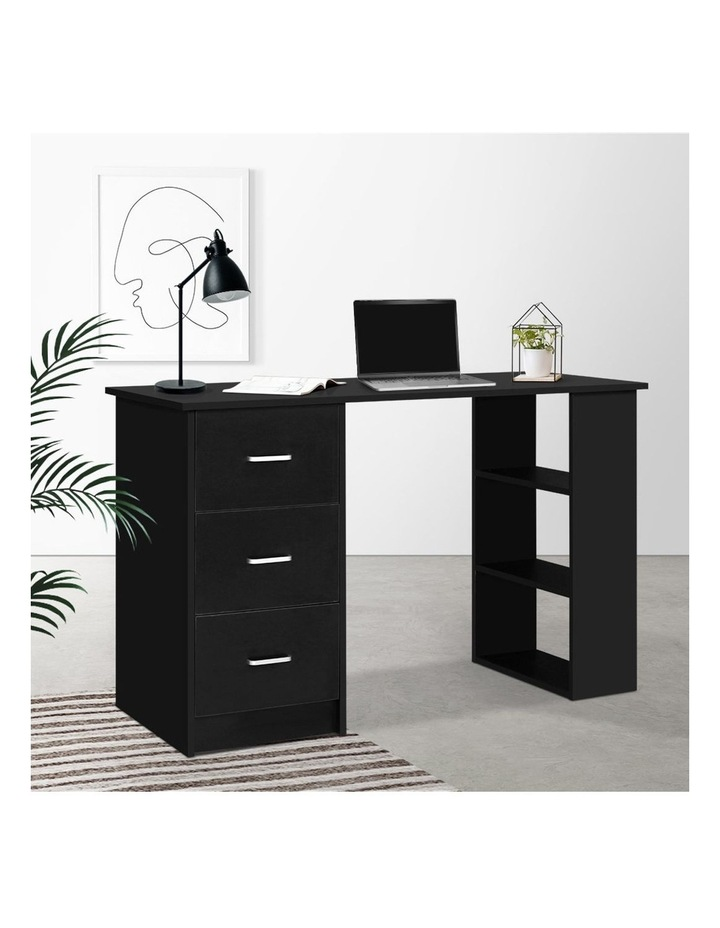 Office Computer Desk Student Study Table Workstation 3 Drawers 120cm Black image 6