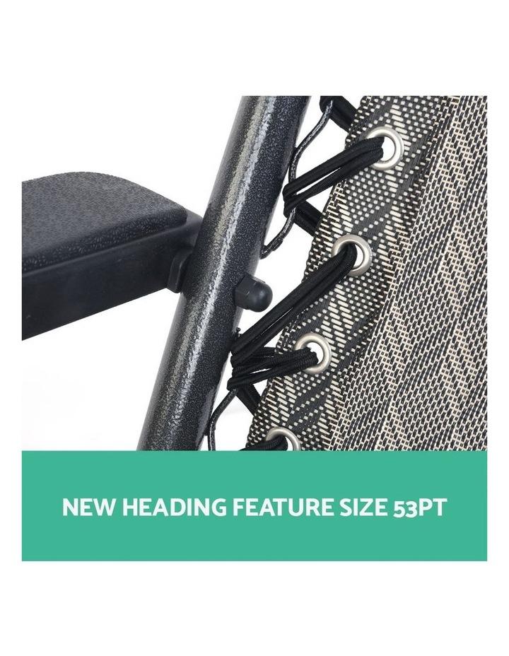 Zero Gravity Chairs 2PC Reclining Outdoor Furniture Sun Lounge Folding Camping Lounger Grey image 4