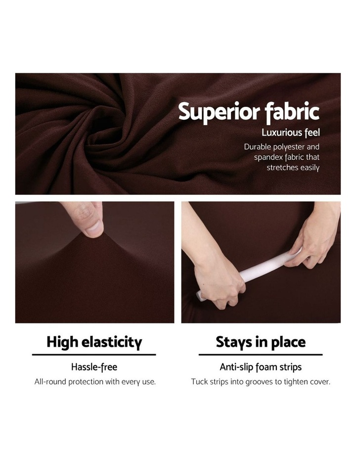 Sofa Cover Elastic Stretchable Couch Covers Coffee 1 Seater image 4