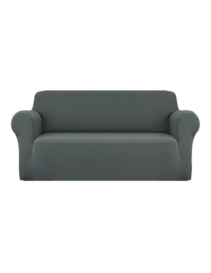 Sofa Cover Elastic Stretchable Couch Covers Grey 3 Seater image 1