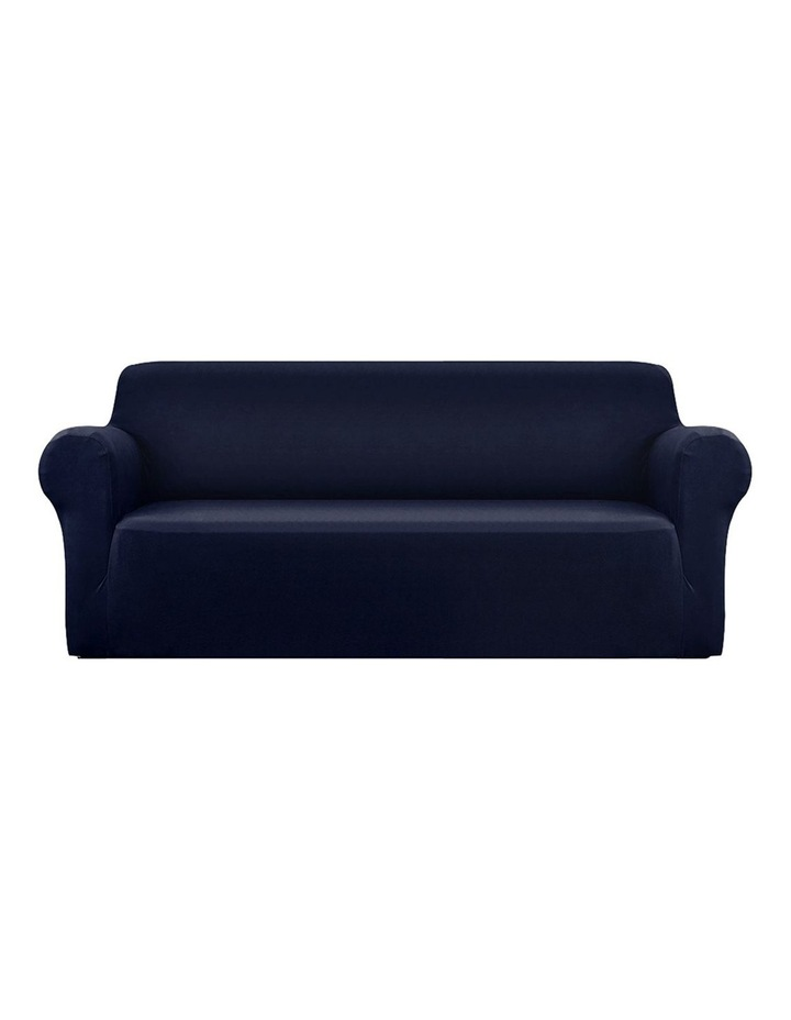 Sofa Cover Elastic Stretchable Couch Covers Navy 4 Seater image 1