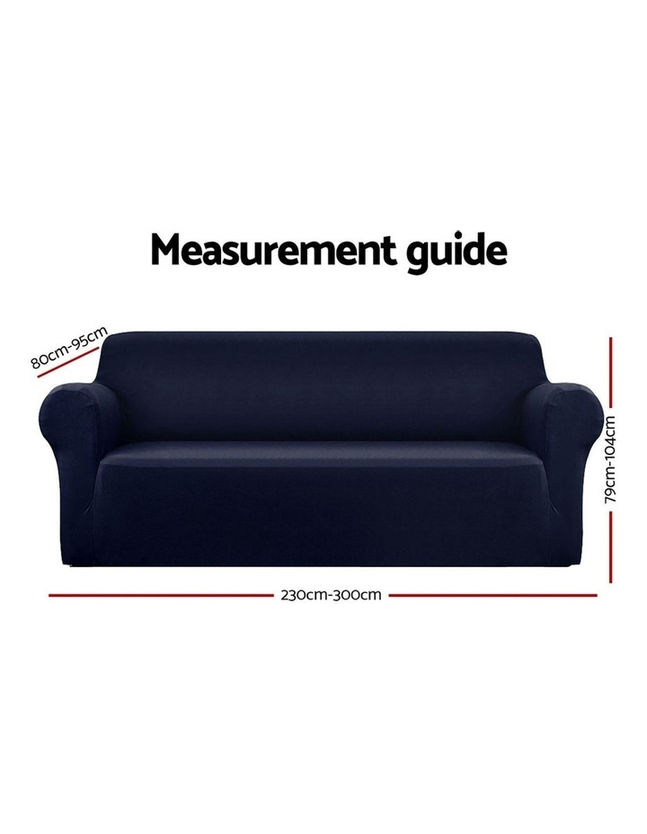 Sofa Cover Elastic Stretchable Couch Covers Navy 4 Seater image 2