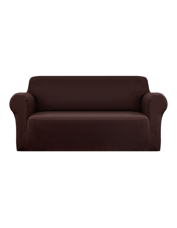 Sofa Cover Elastic Stretchable Couch Covers Coffee 3 Seater image 1