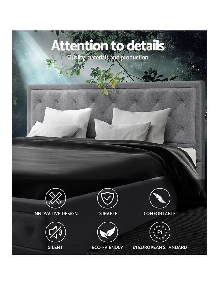 Bed Frame Double Full Size Gas Lift Base With Storage Grey Fabric TIYO image 4