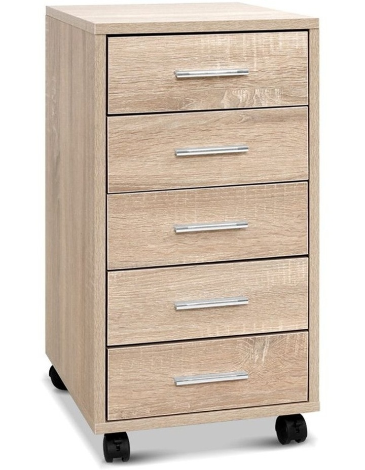 5 Drawer Filing Cabinet Storage Drawers Wood Study Office School File Cupboard image 1