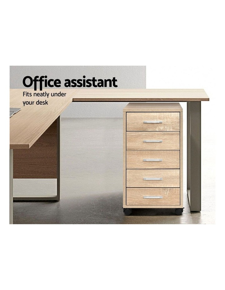 5 Drawer Filing Cabinet Storage Drawers Wood Study Office School File Cupboard image 5