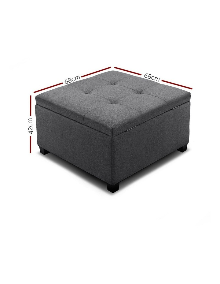 Storage Ottoman Blanket Box Linen Foot Stool Chest Couch Bench Toy Rest image 2