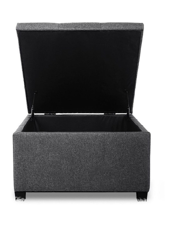 Storage Ottoman Blanket Box Linen Foot Stool Chest Couch Bench Toy Rest image 3