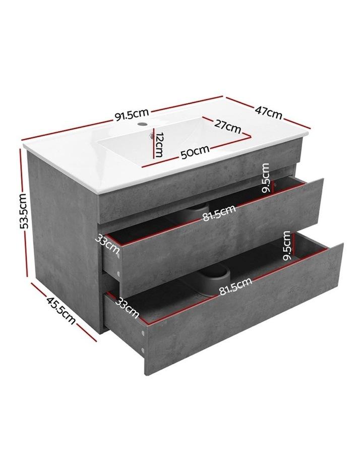 900mm Bathroom Vanity Cabinet Basin Unit Sink Storage Wall Mounted Cement image 2