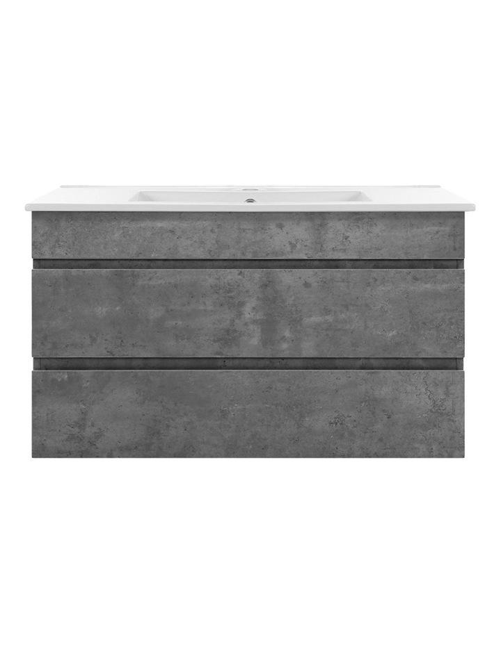 900mm Bathroom Vanity Cabinet Basin Unit Sink Storage Wall Mounted Cement image 3