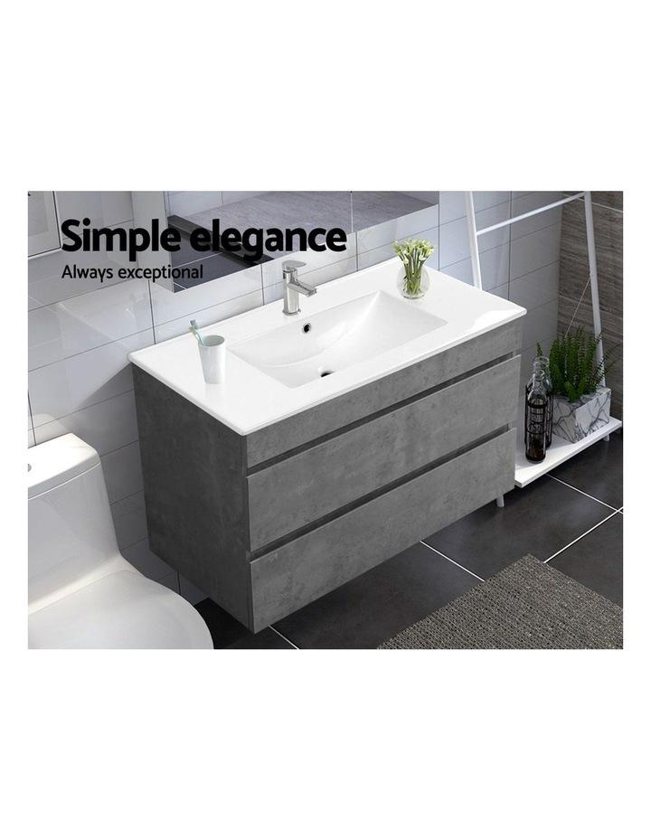 900mm Bathroom Vanity Cabinet Basin Unit Sink Storage Wall Mounted Cement image 4