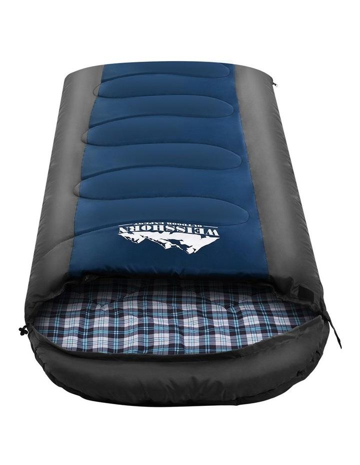 Sleeping Bag Single Size in Black/Blue image 1