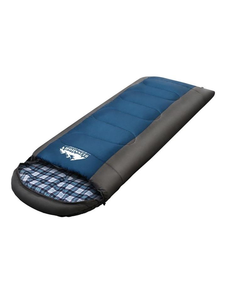Sleeping Bag Single Size in Black/Blue image 3