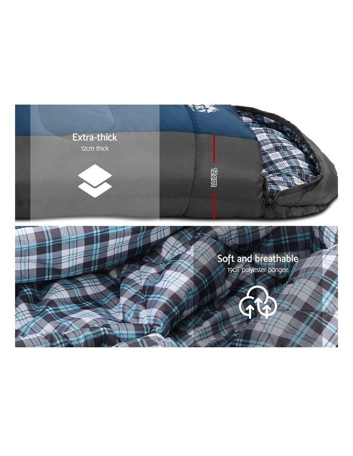 Sleeping Bag Single Size in Black/Blue image 5