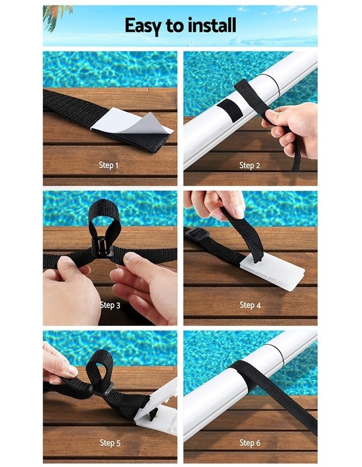 Aquabuddy Pool Cover Roller Attachment Straps Kit 8PCS for Swimming Solar Pool image 5