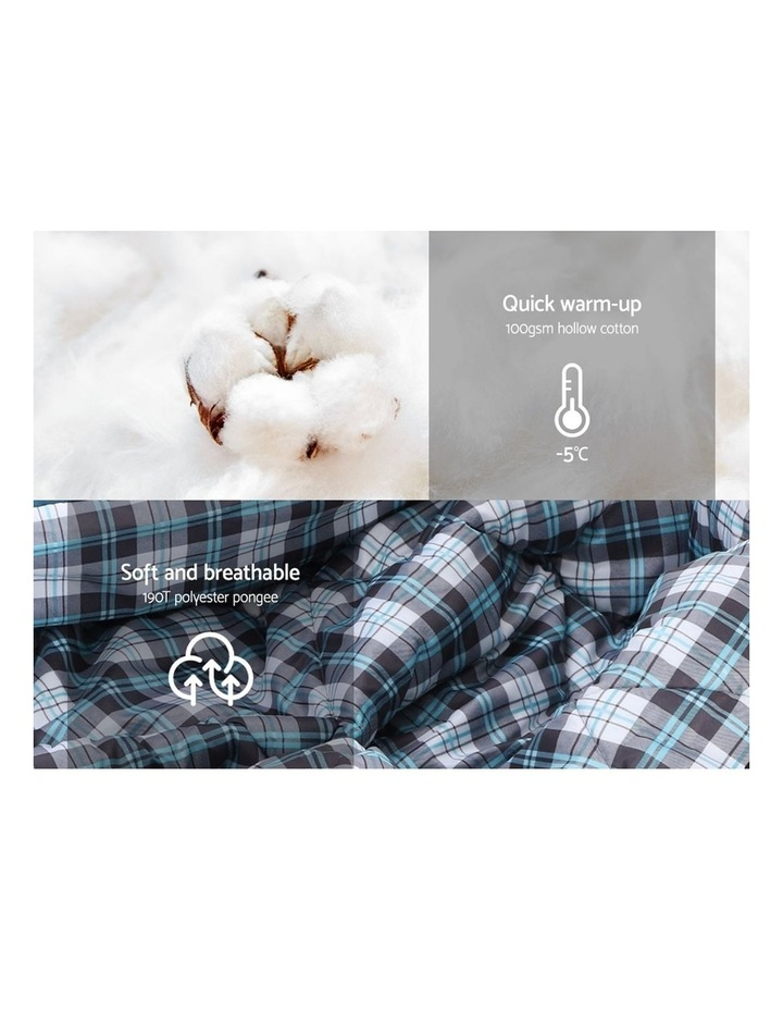 Sleeping Bag Bags Single Camping Hiking Tent Winter Thermal Navy image 5