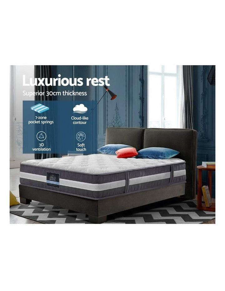 Single Mattress Bed Size 7 Zone Pocket Spring Medium Firm Foam 30cm image 3