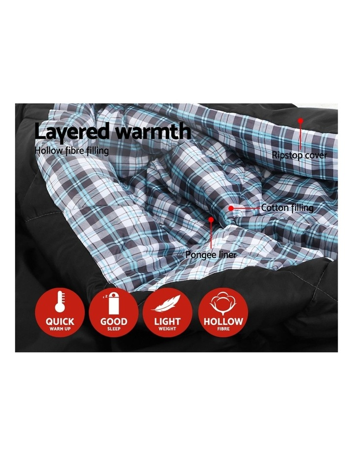 Sleeping Bag Bags Double Camping Hiking -10C to 15C Tent Winter Thermal Grey image 4