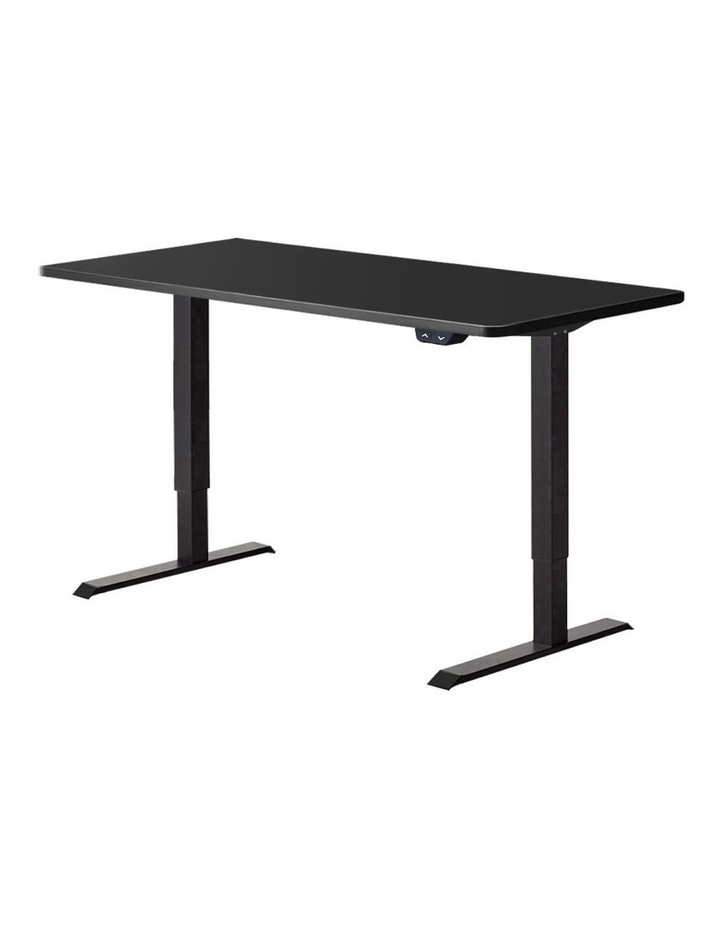 Standing Desk Sit Stand Up Riser Height Adjustable Motorised Electric Computer Laptop Table Black image 1