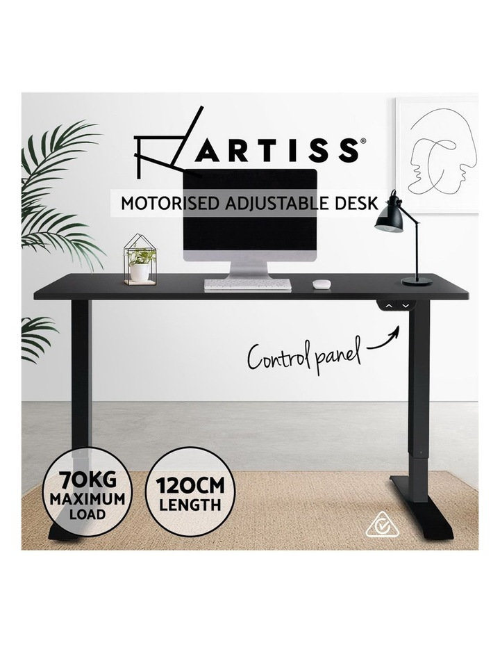 Standing Desk Sit Stand Up Riser Height Adjustable Motorised Electric Computer Laptop Table Black image 4