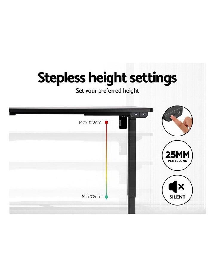 Standing Desk Sit Stand Up Riser Height Adjustable Motorised Electric Computer Laptop Table Black image 5