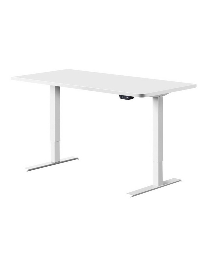 Standing Desk Sit Stand Table Riser Motorised Height Adjustable Computer Laptop Desks Stand 120cm White image 1