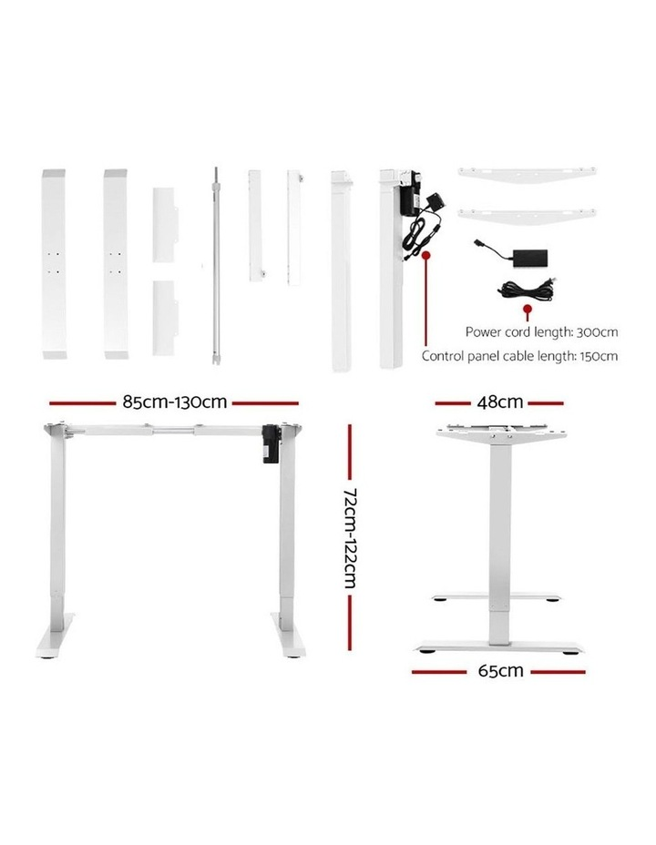 Standing Desk Sit Stand Table Riser Motorised Height Adjustable Computer Laptop Desks Stand 120cm White image 2