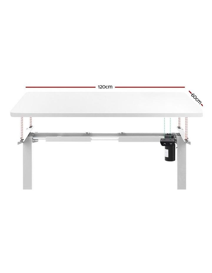Standing Desk Sit Stand Table Riser Motorised Height Adjustable Computer Laptop Desks Stand 120cm White image 3