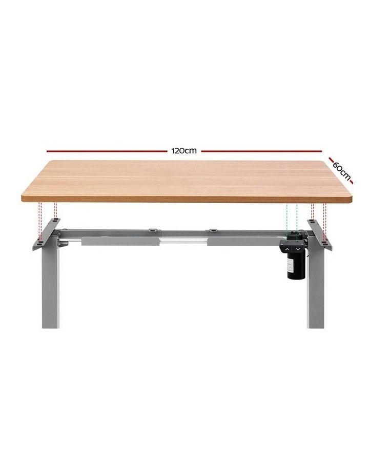 Standing Desk Sit Stand Table Height Adjustable Motorised Electric Frame Riser 120cm Desktop image 3