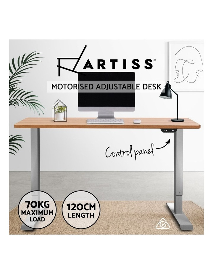 Standing Desk Sit Stand Table Height Adjustable Motorised Electric Frame Riser 120cm Desktop image 5