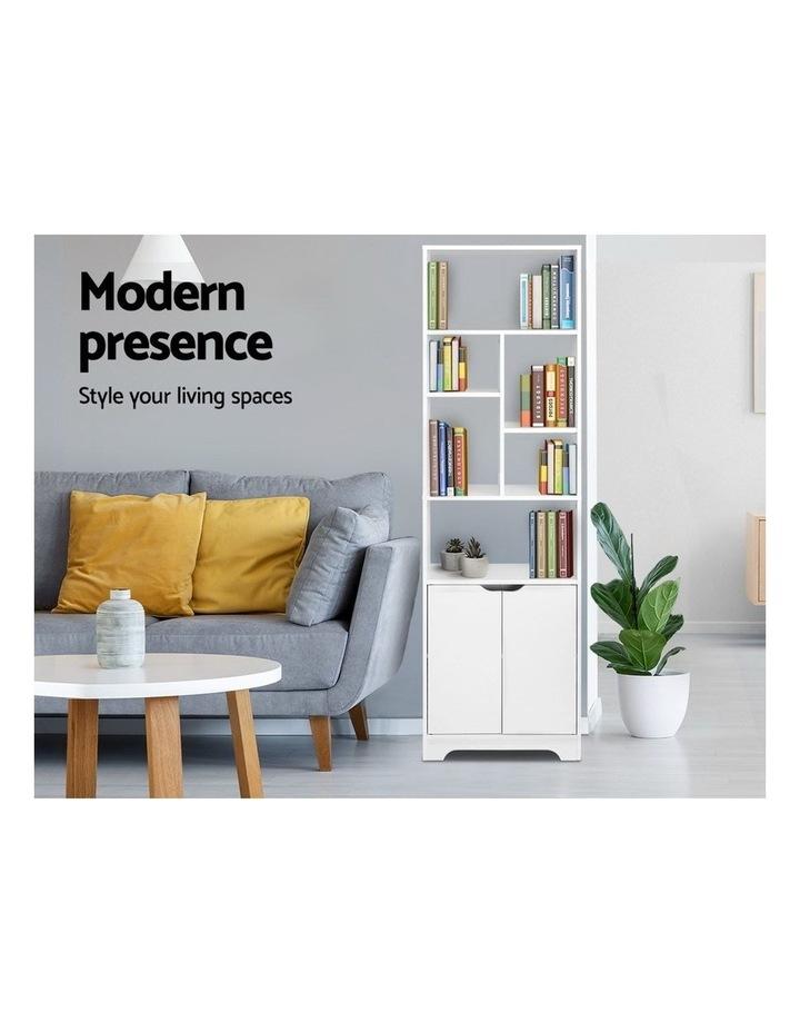 Bookshelf Display Shelf Adjustable Storage Cabinet Bookcase Stand Rack image 4