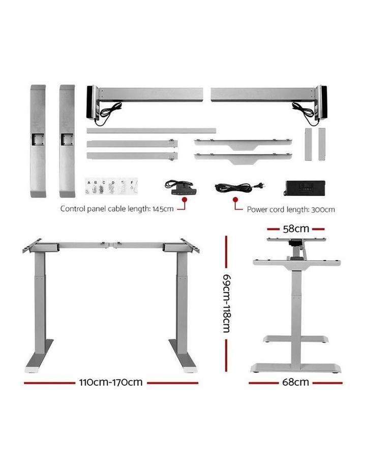 Standing Desk Motorised Electric Height Adjustable Laptop Computer Table Riser 120cm Dual Motor image 2