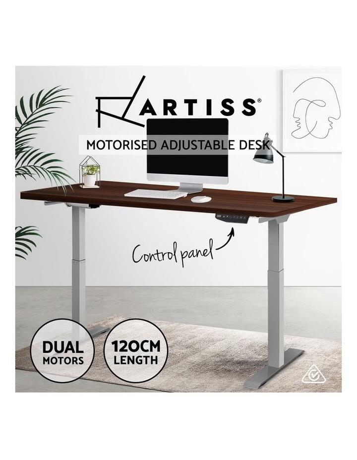 Standing Desk Motorised Electric Height Adjustable Laptop Computer Table Riser 120cm Dual Motor image 4