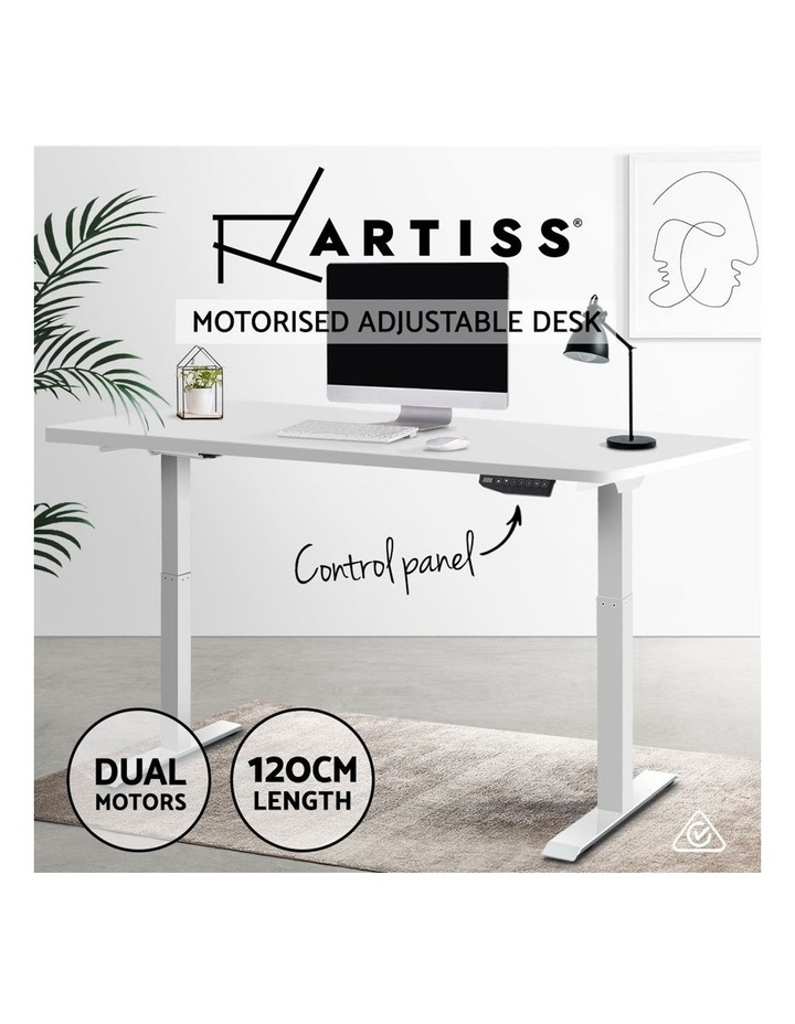 Sit Stand Desk Motorised Electric Computer Laptop Table Riser Office Dual Motor 120cm White image 4