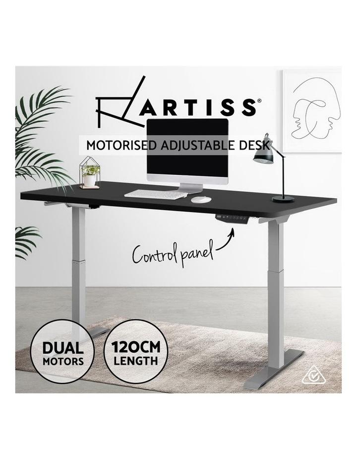 Sit Stand Desk Standing Desks Motorised Electric Home Office Laptop Computer Dual Motor 120cm image 4