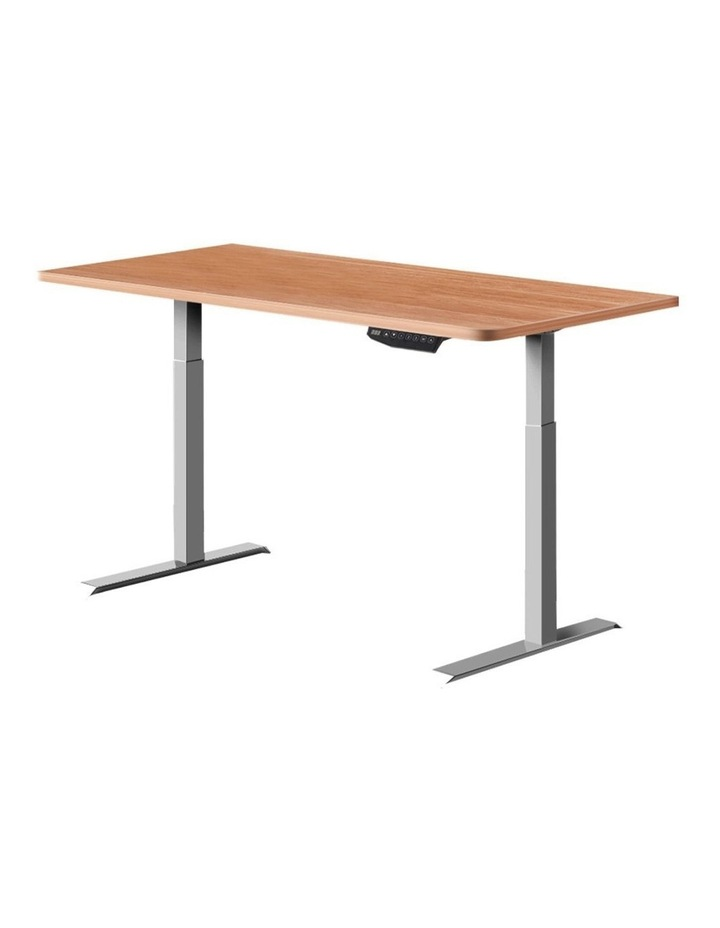 Standing Desk Motorised Electric Height Adjustable Laptop Computer Table 120cm Dual Motor image 1