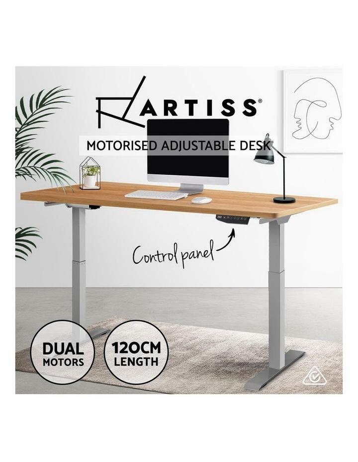 Standing Desk Motorised Electric Height Adjustable Laptop Computer Table 120cm Dual Motor image 4